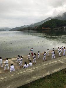 Daily sunrise karate class